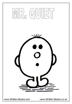 Mr-Quiet-Colouring-Page. Free printables. Great for social skills