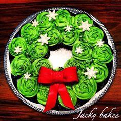 guirlanda de cupcakes - Natal