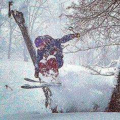 #skiing #skiingislife #japow #powder #backcountry #offpiste #powderrangers #skijump #ski #Japan #oneskee