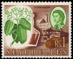 Sello: Cinnamon (Seychelles) (Queen Elizabeth II) Mi:SC 206,Sn:SC 207