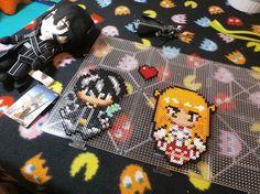 Sword Art Online: Kirito ♥ Asuna ~ Perler Bead (Stop Motion)