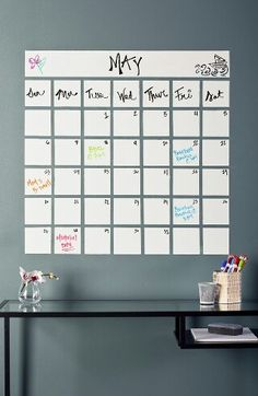 captivating calender project with rustoleum dry erase paint calendar - Dry Erase Board Paint