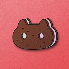 Cookie Cat Enamel Pin
