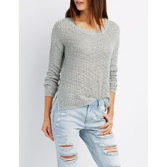Charlotte Russe Slub Knit Pullover Top (2115 RSD) ❤ liked on Polyvore featuring tops, sweaters, belgian block, block top, white top, color block tops, knit pullover sweater and charlotte russe sweaters
