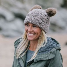 Roo's Beach - Barts Winna Beanie with bear ears! Too cute. Why can't we all just wear bear ears? #roosbeach #winter #style