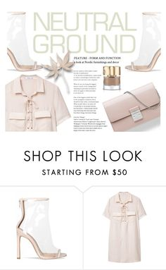 """""""Cool Neutrals."""" by inthetimelessness ❤ liked on Polyvore featuring Christian Dior, MANGO and Smith & Cult"""