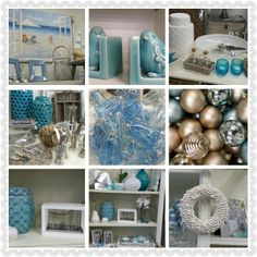 Blue and white Christmas decor at Lifestyle Home and Living Www.lifestylehomeandliving.com.au