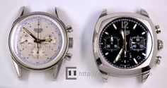 Two watches from the Heuer re-edition series. The 2000 Monza and the 1997 Carrera from TAG Heuer