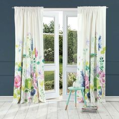 Buy Bluebellgray Tetbury Meadow Curtains Now at Dotmaison. Quality designer homewares & Free UK delivery over Pleated Curtains, Cotton Curtains, Floral Curtains, Lined Curtains, Window Curtains, Curtains Ready Made, Bluebellgray, Flower Curtain, Curtain Fabric