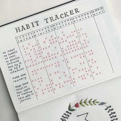 25 Bullet Journal Habit Tracker to help you develop better habits . - 25 bullet journal habit trackers to help you develop better habits – 25 habit tracker ideas for y - Bullet Journal Tracker, Bullet Journal Meal Plan, Bullet Journal Entries, Daily Bullet Journal, Bullet Journal Notebook, Bullet Journal Spread, Journal Challenge, Bullet Journals, Monthly Bullet Journal Layout