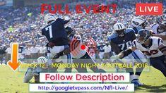 CBSNWS   Texans vs Titans Live - Weeked 12 Monday Night Football 2018 Fr...