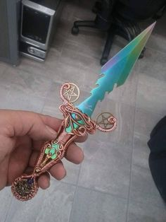 This is one beautiful Egyptian styled Wiccan blade.