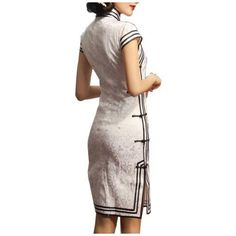 Interact China Chinese Cheongsam Qipao Gown Vintage Cocktail Dress Asian Fashion Chic #101 for Women