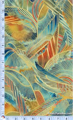 Valley of the Kings - Gilded Egyptian Falcon Wings Collage -- Robert Kaufman quilting cotton