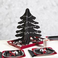 Our Christmas Chalkboard Party Supplies can be a great way to complete a table setting for family and friends.