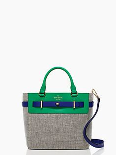 """Like the color scheme of this Kate Spade bag... I was raised on """"Green and blue don't go together""""... Umm, okay"""