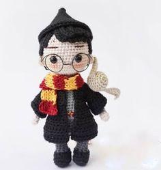 Boy Crochet Patterns, Crochet Doll Pattern, Crochet Patterns Amigurumi, Amigurumi Doll, Crochet Dolls, Doll Patterns, Crochet Geek, Free Crochet, Harry Potter Free