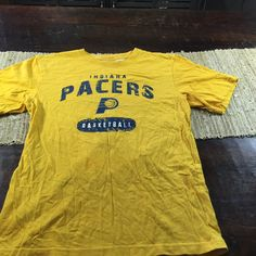 8edcb9bff Youth NBA Indiana Pacers Basketball Distressed Yellow T Shirt Sz XL  NBA   IndianaPacers