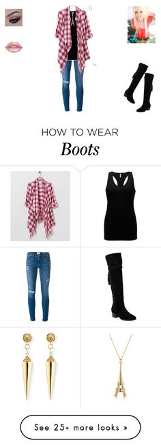 """Lizs new boots"" by punkalishous on Polyvore featuring Frame Denim, BKE, Billabong, Frye, Sydney Evan, Lime Crime, MyStyle, FH and nw"