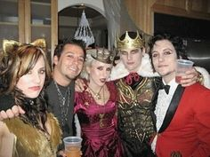 Michelle Haner, Synyster Gates, Valary Sanders and M shadows cool royal Halloween costumes