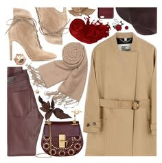 """""""Fall style"""" by pastelneon ❤ liked on Polyvore featuring Gianvito Rossi, Burberry, AG Adriano Goldschmied, Forzieri, Chloé, Bliss Studio, Luv Aj, Dagmar, Peach Couture and Emanuel Ungaro"""
