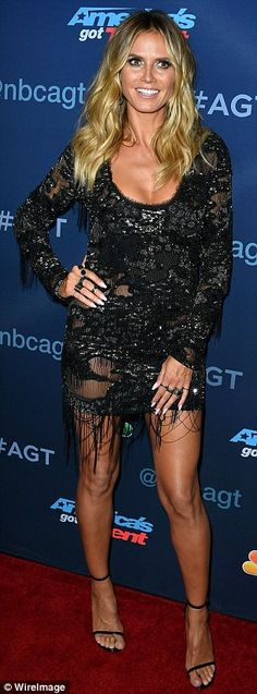 The real stars! Heidi Klum and Mel B commanded everybody's attention in their exquisite form-fitting frocks which also put their extremely gym-honed physique on show as they arrived to the season finale of America's Got Talent in Hollywood on Wednesday