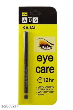 Eyes ADS Eye Care 12 Hr Kajal Pencil Black  Product Name: ADS Eye Care 12 Hr Kajal Pencil Black  Brand Name:  ADS Product Type: Kajal Package Contains: It Has 1 Piece of Kajal Country of Origin: India Sizes Available: Free Size *Proof of Safe Delivery! Click to know on Safety Standards of Delivery Partners- https://ltl.sh/y_nZrAV3  Catalog Rating: ★4 (7020)  Catalog Name: Free Gift Premium Choice Eyeliner Products Vol 3 CatalogID_264642 C51-SC1242 Code: 39-2003217-