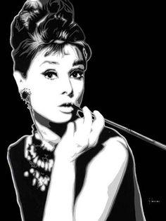 Audrey Hepburn hacer hasta pantalla y  imágenes