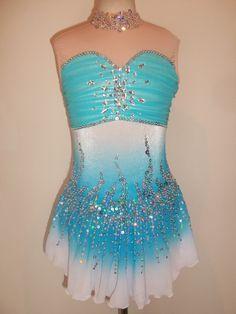 New Figure Ice Skating Twirling Baton Dance Dress Adult M   eBay