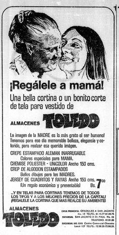 Publicidad del Día de las Madres. Publicado el 10 de mayo de 1974.