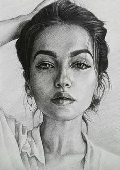 Beautiful portrait drawing by Lika Sunik art illustration draw