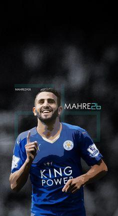 Riyad Mahrez - Leicester Football - Soccer Creative Art - iPhone 6 wallpaper