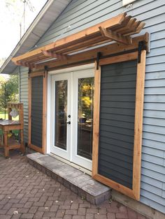 Most current Photo french doors to backyard Style - Pergola Ideas Home Renovation, Home Remodeling, Casas Containers, The Doors, Backyard Patio, Backyard Ideas, Pergola Patio, Patio Ideas, Diy Backyard Projects