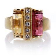#Vintage rings tourmaline