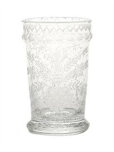 OSCAR DE LA RENTA - HEART ETCHED GLASS, $60.00