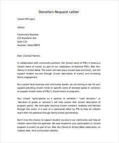Carnival Donation Request Letter  To Create