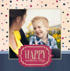 Polka dots add a playful twist to this whimsical Mother's Day family photo book.