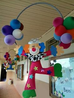 Dia del niño Kids Crafts, Clown Crafts, Circus Crafts, Carnival Crafts, Circus Carnival Party, Kids Carnival, Circus Theme Party, Carnival Birthday Parties, Carnival Themes