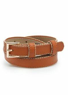 Cinturón ribete metálico - Cinturones - Mujer - MANGO 16€