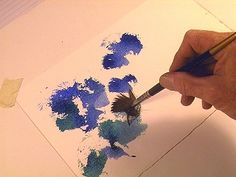 6 Secret Brush Skills for Watercolor Painters:  The Stab
