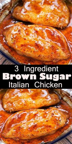 3 Ingredient Brown Sugar Italian Chicken 3 Ingredient Brown Sugar Italian Chicken - Happy Cooking , In the food recipe that you read this time with . Get this Finest Ingredient Brown Sugar Italian Chicken 3 Ingredient Brown Sugar Italian Chicken. Italian Chicken Recipes, Paleo Chicken Recipes, Healthy Dinner Recipes, Cooking Recipes, Italian Dressing Chicken, Italian Baked Chicken, Recipe Chicken, 3 Ingredient Chicken Recipes, 3 Ingredient Dinners