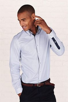 Men's Tops - Next Printed Shirt With Double Collar