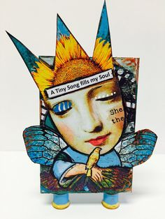 ATB Artist Trading Block Mixed Media Art Collage  A Tiny SONG by IMGirl on Etsy - I just bought this, it spoke to my soul and will be placed in my inspiration corner on my jewelry workspace <3 LOVE!