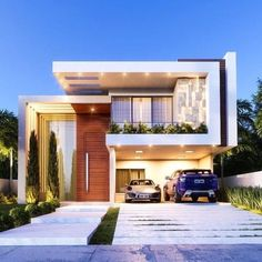 Architektur Top 33 Modern House Designs Ever Built You Must See 5 - # How To Choose Fine Linens For Modern Exterior House Designs, Best Modern House Design, Modern House Facades, Duplex House Design, Small Modern Home, House Front Design, Dream House Exterior, Modern House Plans, Exterior Design