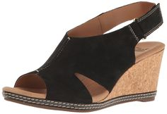 614a8af19874 CLARKS Women s Helio Float Wedge Sandal     Find out more about the great  product