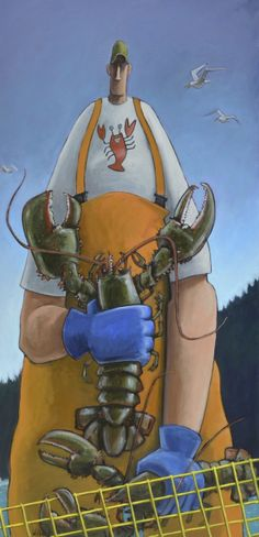 """Duncan"" by David Whitbeck. 60""x30"" Oil. Available at www.maine-art.com."
