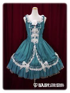 Veronica Elisse jumper skirt - green   #BtSSB #BabyTheStarsShineBright