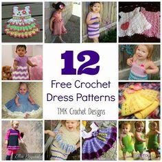 TMK crochet: Free Crochet Pattern Round-Up: Dresses