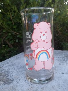 Vintage Care Bears Glass Pizza Hut 1983 by TheHoneysuckleTree, $7.00