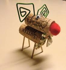 christmas crafts 2013 -  cork reindeer